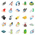 Means of subsistence icons set, isometric style Royalty Free Stock Photo