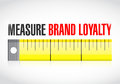 Measure brand loyalty concept illustration Stock Image
