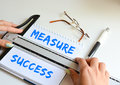 Measure success concept in a company Royalty Free Stock Photo