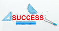 Measure of success Royalty Free Stock Photo