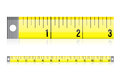 Measure tape illustration design over a white background Stock Photo