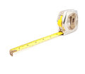 Measure tape tools on white background Stock Photo