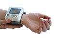 Measurement of arterial pressure Royalty Free Stock Photo