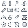 Measurement tools pack Royalty Free Stock Photo