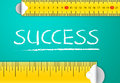 Measuring Success Royalty Free Stock Photo