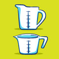 Measuring cup blue series vector illustration of cups in different size Royalty Free Stock Photography