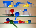 Measuring Cups and Scoops Royalty Free Stock Photo