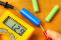 Measuring with digital multimeter Royalty Free Stock Photo