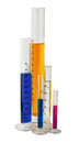 Measuring Graduated cylinders Royalty Free Stock Photo