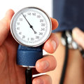 Measuring normal blood pressure the Stock Photos