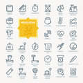 Measuring related Icon set. Vector Illustration Royalty Free Stock Photo