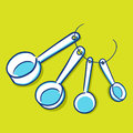 Measuring spoon blue series vector illustration of a for cooking and baking Stock Image