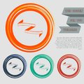Measuring tape icon on the red, blue, green, orange buttons for your website and design with space text. Royalty Free Stock Photo