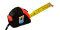 Measuring tape red on white background Stock Photography