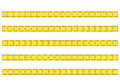 Measuring tape for tool roulette vector illustrati