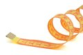 Measuring tape on white background Stock Photos