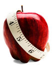 Measuring Tape Wrapped Around Apple Royalty Free Stock Photo