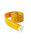 Measuring tape yelow isolated on white Stock Image