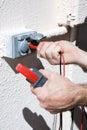 Measuring Voltage Closeup Royalty Free Stock Photo