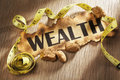 Measuring wealth concept Royalty Free Stock Photo