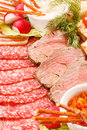 Meat appetizer Stock Photography
