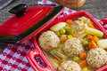 Meat balls soup with pork Royalty Free Stock Image