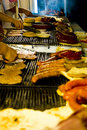 Meat on the barbecue 3 Royalty Free Stock Image