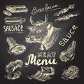Meat chalkboard set