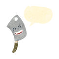 Meat cleaver retro cartoon character Royalty Free Stock Photo
