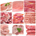Meat collage Royalty Free Stock Images