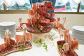 Meat delicatessen with ham salami bresaola crudo di parma Stock Photography