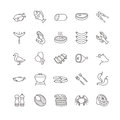 Meat and fish vector icons Royalty Free Stock Photo
