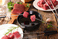Meat fondue Royalty Free Stock Photo