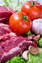 Meat and fresh vegetables Stock Photo