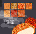 Meat fried texture patterns Royalty Free Stock Photo