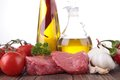 Meat and ingredient Stock Photos