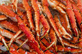 Meat king crabs bergen fishmarket norway Stock Image