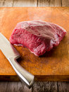 Meat with knife Stock Image