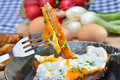 Meat laof with egg Royalty Free Stock Photo