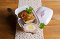 Meat Loaf with boiled egg Royalty Free Stock Photo