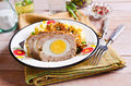 Meat Loaf with egg Royalty Free Stock Photo