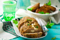 Meat loaf with feta Royalty Free Stock Photo