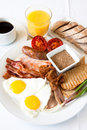 Meat Lover's Breakfast Royalty Free Stock Photo