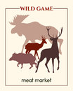 Meat market banner Royalty Free Stock Photo