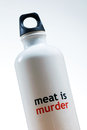 Meat is Murder water bottle Royalty Free Stock Photography