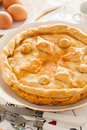 Meat pie homemade fresh from the oven ready to eat Stock Photo