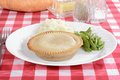 Meat pie with vegetables Royalty Free Stock Images