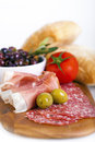 Meat platter Stock Photo