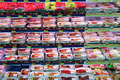 Meat products at supermarket assortment of ready to cook a in hong kong Royalty Free Stock Photo