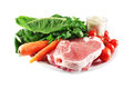 Meat, rice and vegetables Stock Photography